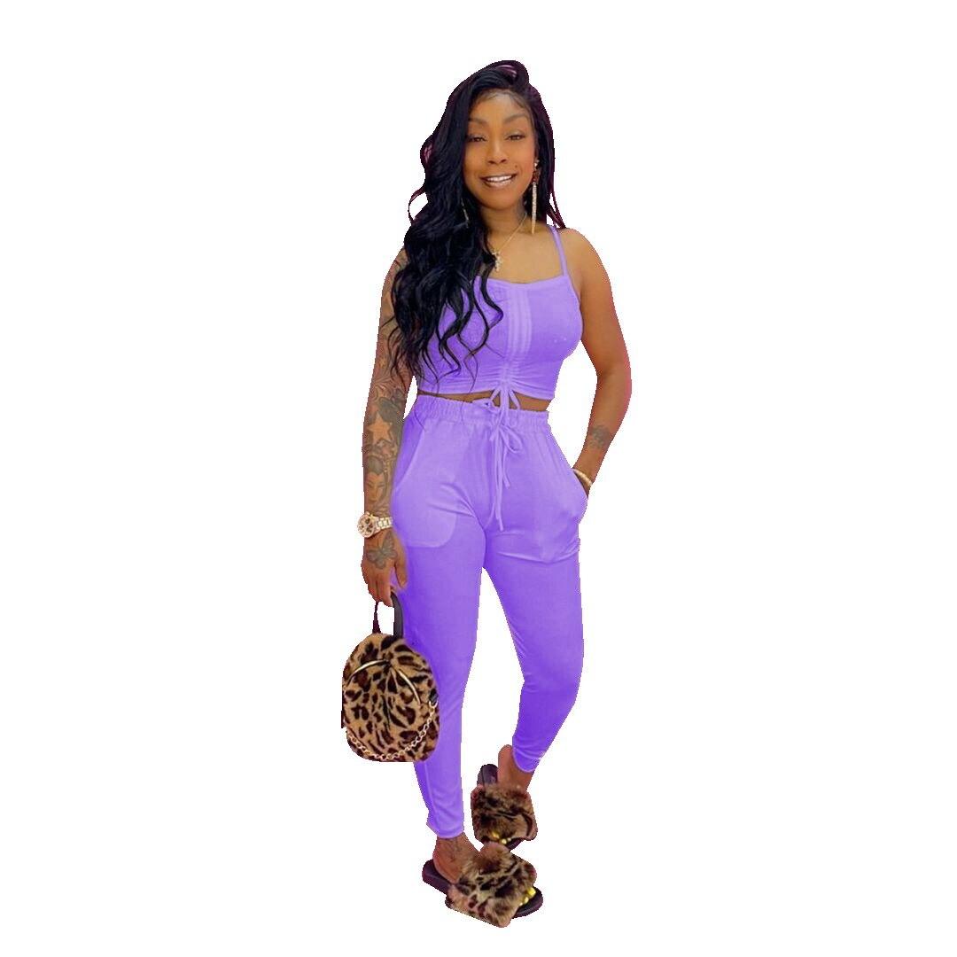 Сексуальными тоненькими лямками, топ + длинные штаны; Комплект из 2 предметов; Комплект ювелирных изделий для женщин, оптовая продажа, тренир...