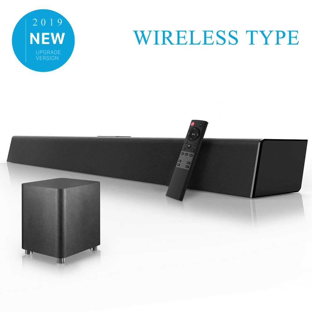 ELEMENTO 120W Sistema de Som Home Theater Soundbar TV Suporte AUX Óptica Coaxial Barra de Som Sem Fio Bluetooth Speaker Subwoofer Para TV