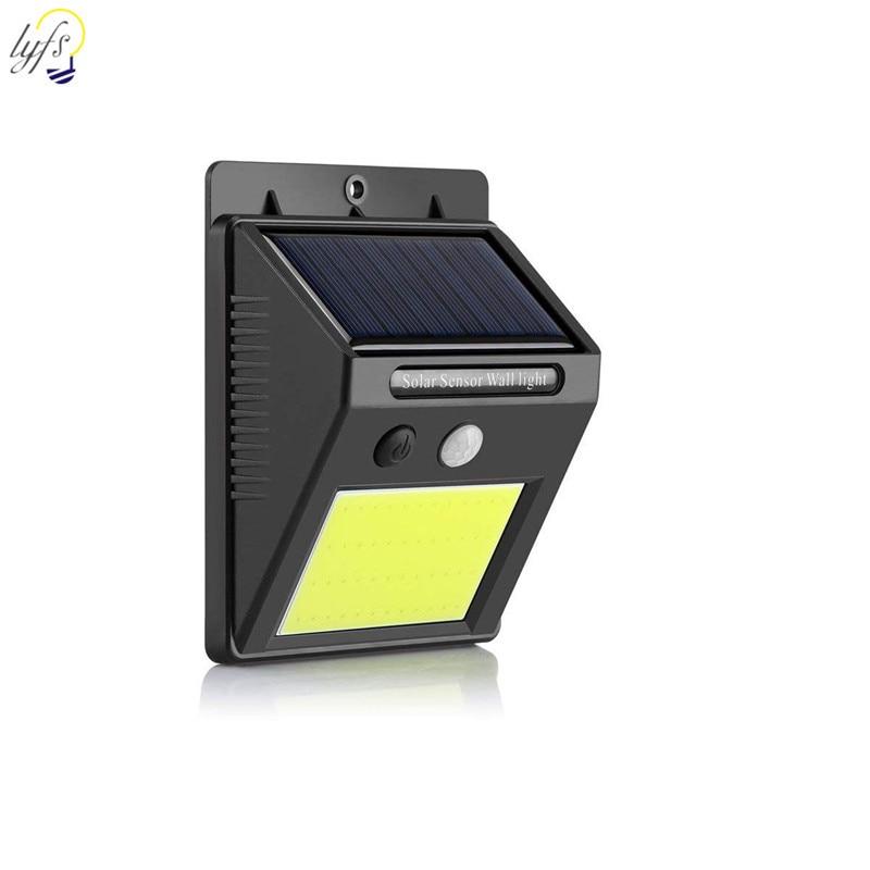 LED Solar Light Outdoor Waterproof PIR Motion Sensor Wall Lamp Garden Courtyard Solar Light Decorative Lighting