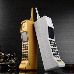 (Prezent) super duży KR999 luksusowy Retro telefon głośny dźwięk Power Bank Standby Dual SIM ciężki h-mobile M999 z rosyjska klawiatura