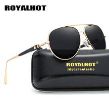 RoyalHot Men Women Retro Polarized Aloy Oval Frame Sunglasses  Driving Sun Glasses Shades Oculos masculino Male 90097