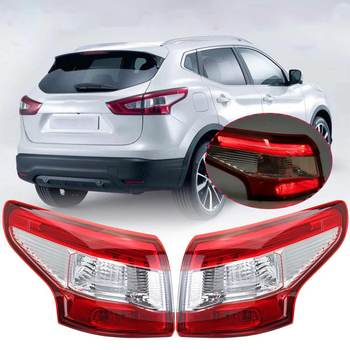 Left/Right Outer Rear LED Tail Light Lamp Brake Light Taillamp with Harness no bulbs For Nissan Qashqai 2014 2015 2016 replaceme