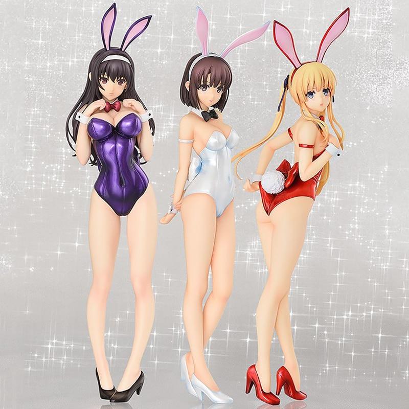 36cm Saenai Heroine No Sodatekata Rabbit Ear Katou Megumi Bunny Sexy Girls Action Figure Japanese Anime PVC Adult Action Figures