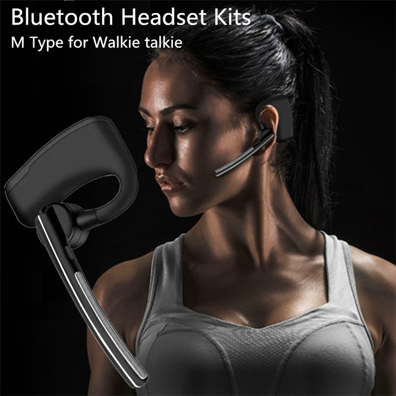 M Type  Walkie Talkie Wireless Headset Bluetooth Ptt  Earpiece With Mic Two Way Radio For Ham Radio Interphone PTT Baofeng Hidde