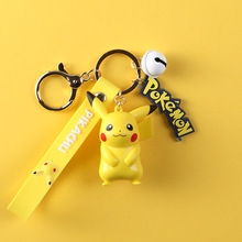 Pokemon Cute Cartoon Keychain Creative And Practical Booth Key Chain Pikachu Key Chain Bag Pendant Keyring 3d anime pokemon key ring pikachu keychain pocket monsters key chain holder pendant mini cartoon figure toys keyring k1725