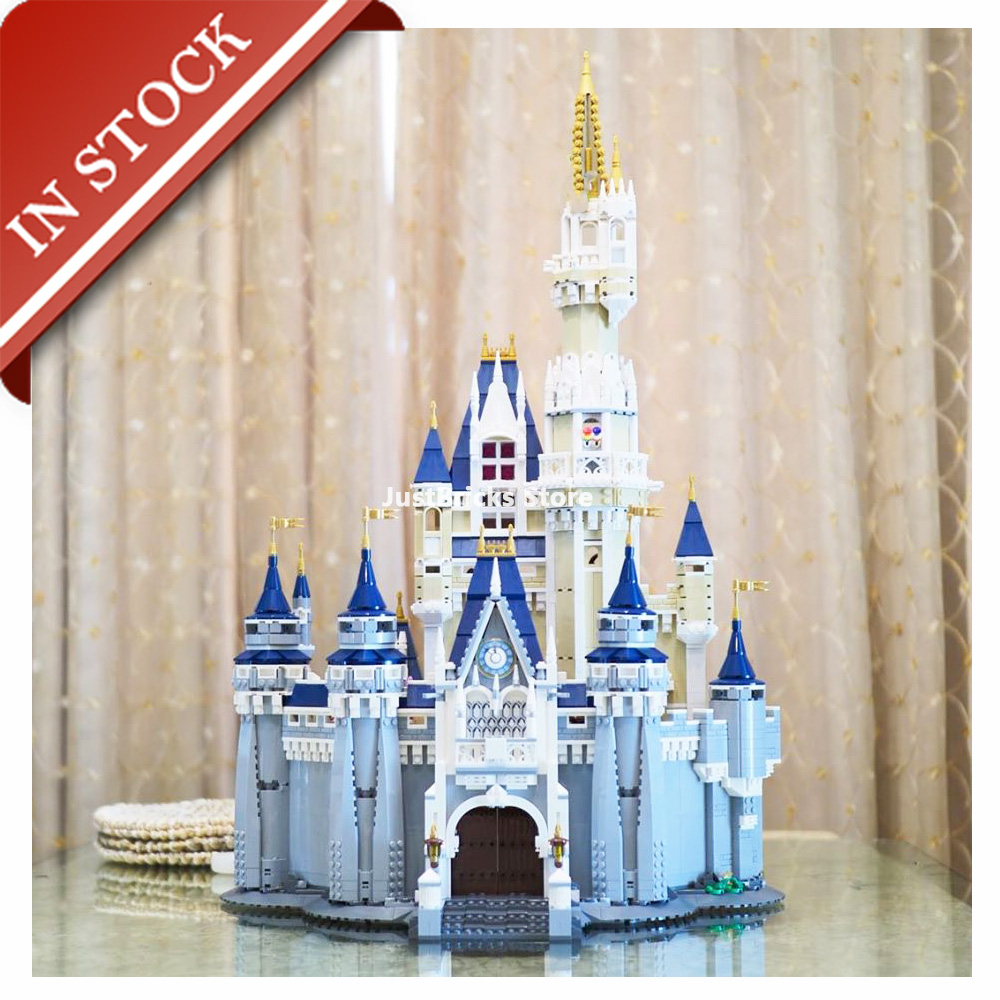In Stock 16008 Cinderella Princess Castle 71040 Building Block 4000+Pcs Bricks Model Lepinblocks Toys King 83008 6005 30010
