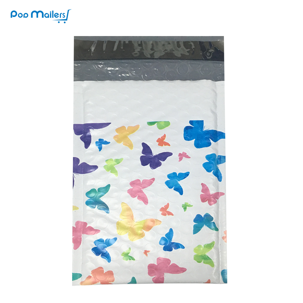 10pcs Poly Bubble Mailers 175*230mm Bubble Envelopes Butterfly Pattern Bubble Lined Poly Mailer