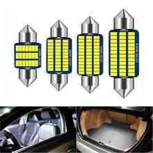 1 pces bombilla led canbus interior de coche, luces para matrícula 3014 smd, 31mm, 36mm, 39mm, 41mm, c5w, c10w, erro de pecado,