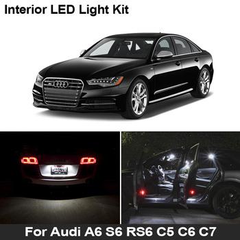 Dla Audi A6 S6 RS6 C5 C6 C7 4B 4F 4G Quattro Sedan Avant oświetlenie wewnętrzne LED mapa kopuła bagażnika zestaw lampowy Canbus nie błąd żarówki tanie i dobre opinie BADEYA CN (pochodzenie) Lampa bagażnika 300LM T10 (W5W 194) 12 v High Quality 5730 SMD LED Bulb 2 4W 1 Year No Error Direct Replacement