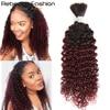 Rebecca brazylijski Remy kręcone ludzkie włosy hurtowo dla oplatania 1/3/4 włos wiązki 10 do 30 Cal kolor 1B/99J przedłużanie włosów