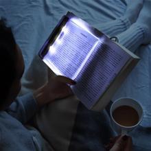 Плоский пластина светодиод книга свет чтение ночь свет портативный путешествия общежитие светодиод стол лампа глаза защита для дома спальни