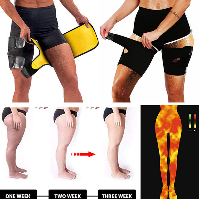 S-XL Slim Thigh Trimmer Leg Shapers Fajas Slender Slimming Belt Thigh Slimmer Neoprene Sweat Shapewear Toned Muscles Band 4