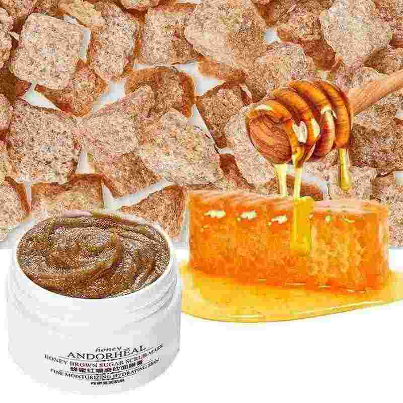 65G Madu Brown Sugar Scrub Masker Gentle Cleansing Exfoliating Pelembab Meningkatkan Kusam Matte Topeng Krim Perawatan Wajah