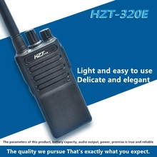 цена на Walkie-talkie HZT-320E thin body Long distance Civil two-way walkie-talkie clear sound quality and durable