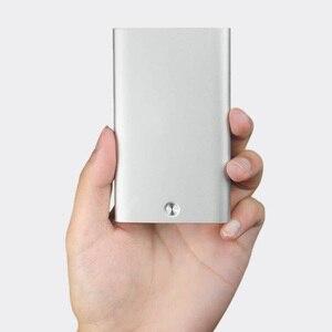 Image 2 - Nowy uchwyt na karty MIIIW ze stali nierdzewnej srebrny aluminiowy etui na karty kredytowe damskie męskie etui na dowód karty etui kieszonkowe
