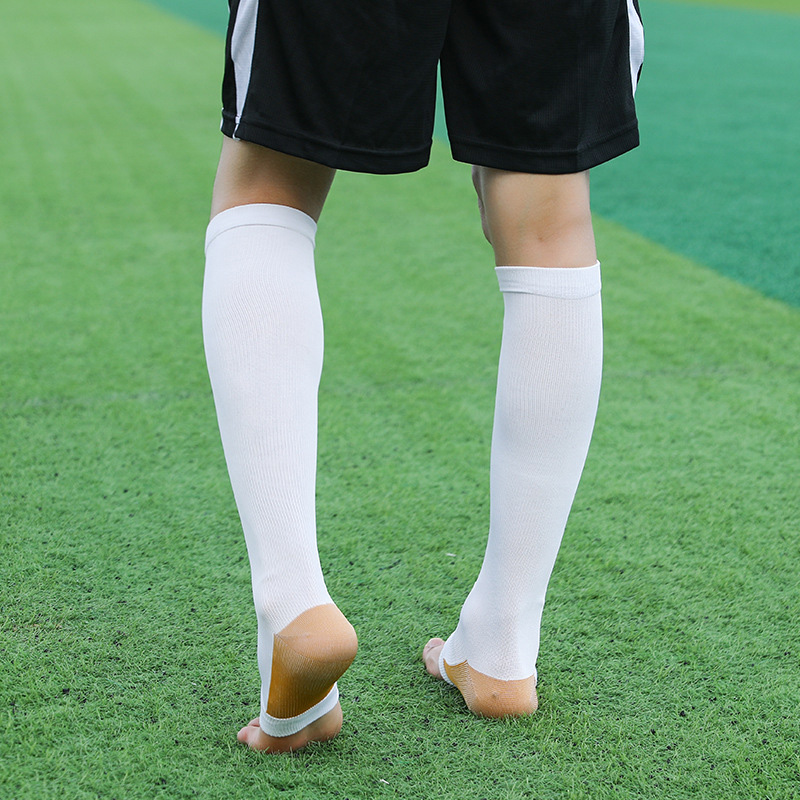 Knee-High Compression Stockings Open Toe Knee High Stockings Support Socks Men Women Varicose Veins Relief Shin Splints NEW
