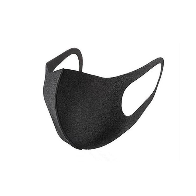Black Mouth Mask Nano Breathable Unisex Face Mask Reusable Anti Dust Anti Pollution Face Shield Wind Proof Mouth Cover