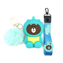 Credit Card Holder Women Men Card Wallet Silicone Bank Card Wrist Strap Card Bus ID Holder Mini Bag Identity Badge With Lanyard free shipping 1pcs cartoon minions printed lovely neck strap lanyard with id bus bank card badge holder