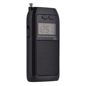 Image 1 - K605 جيب صغير راديو ستيريو FM AM SW MW الرقمية ضبط راديو استقبال MP3 مشغل موسيقى بطارية قابلة للشحن راديو محمول
