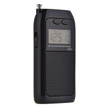 K605 ミニポケットラジオステレオfm、am、sw 800mwデジタル同調ラジオ受信機MP3 音楽プレーヤー充電式バッテリーポータブルラジオ