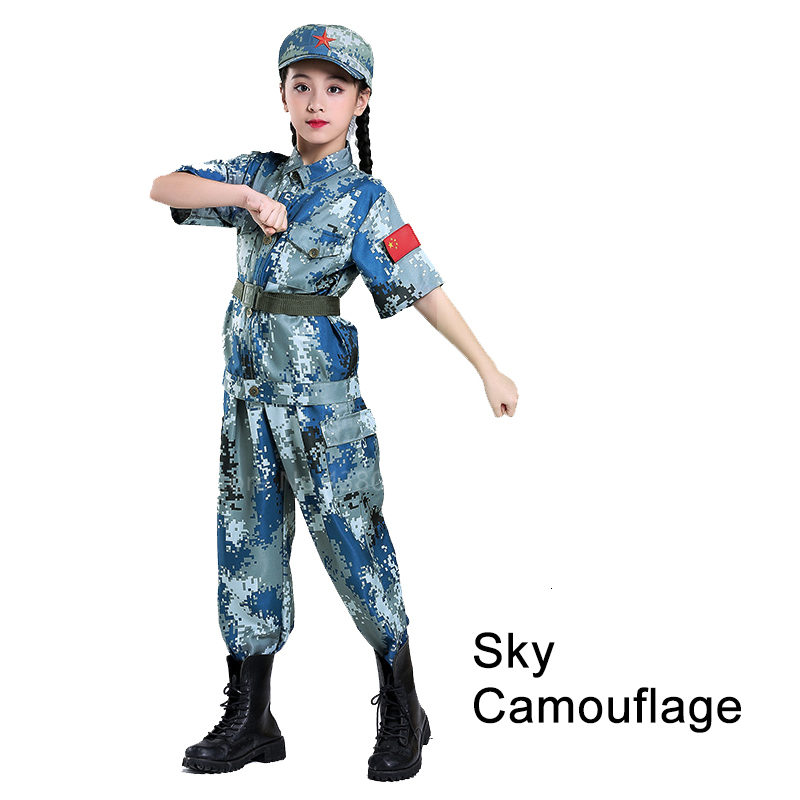 Children Camouflage Tactical Uniforms Hunting Set Men Military Clothing Combat Jackets Pants Kids Army Clothes Cosplay Costumes - Цвет: Style2