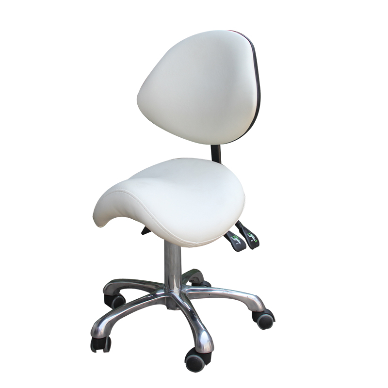 H1 Standard Dental Mobile Chair Saddle Doctor's Stool PU Leather Dentist Chair Spa Rolling Stool With Back Support For Beauty