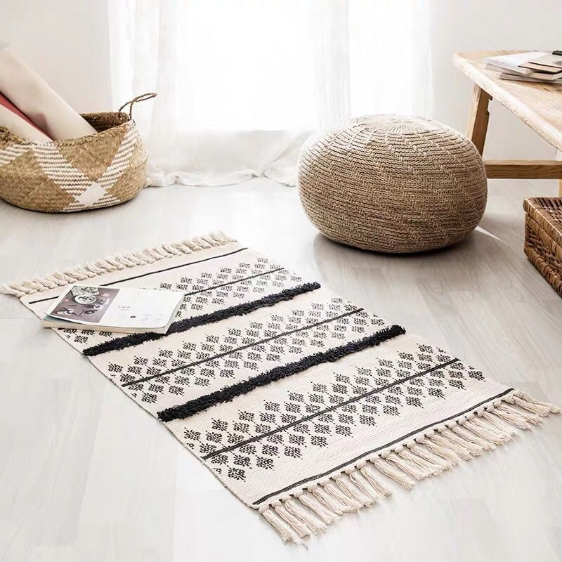 Carpet Cotton Hand Woven Printed Skid