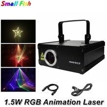 267 wzory RGB 1.5W DMX512 liniowy wskaźnik laserowy skaner efekt oświetlenia scenicznego projektor laserowy DJ do dyskoteki Party pokaz Disco światła
