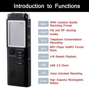 Image 5 - 8GB مسجل صوتي USB المهنية المحمولة 96 ساعة الإملاء مسجل صوتي صوتي رقمي مع WAV ، مشغل MP3