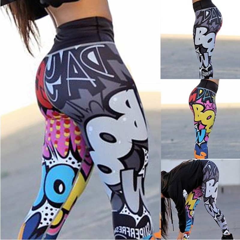 3D Print Casual <font><b>Yoga</b></font> <font><b>Pants</b></font> 2018 <font><b>Leggings</b></font> <font><b>Fitness</b></font> Jogging <font><b>Pants</b></font> <font><b>High</b></font> <font><b>Waist</b></font> Bodybuilding <font><b>Women'S</b></font> Gym Dropshipping <font><b>Sexy</b></font> Trousers image