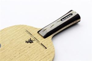 Image 3 - SANWEI CC karbon (5 + 2 karbon, ücretsiz çanta ve kenar bandı) SANWEI masa tenisi Blade/raket orijinal SANWEI Ping Pong yarasa/kürek