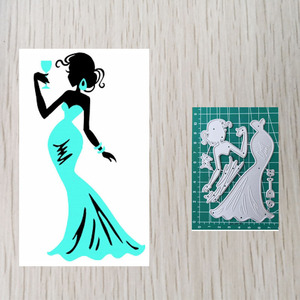 Drinking Lady Embossing Cutting Dies Craft Supplies Die Cutting & Embossing