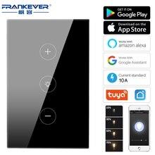 FrankeEver LED باهتة التبديل الاتحاد الأوروبي/الولايات المتحدة واي فاي الذكية الجدار التبديل اللمس يعتم مفتاح الإضاءة العمل مع أليكسا جوجل المنزل تويا الحياة الذكية