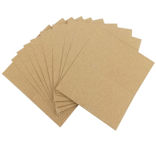 Name-Cards Invitation Thank-You Greeting Sign Paper Decor Brown 10PCS