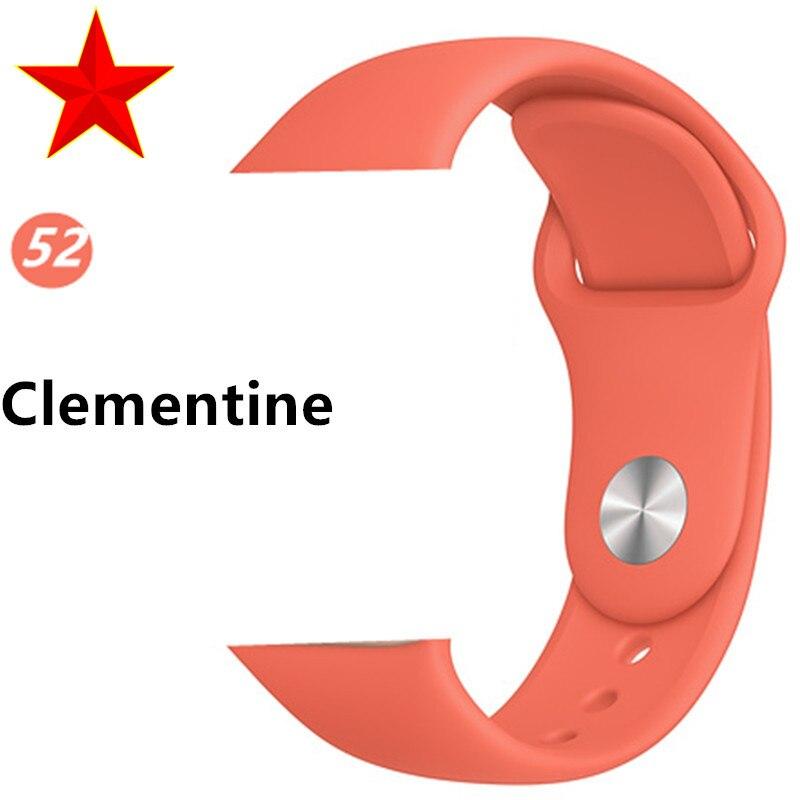 Ремешок для apple watch band 44 мм/40 мм iwatch band 5 4 42 мм 38 мм correa pulseira watch band для apple watch 5 4 3 браслет 44 мм - Цвет ремешка: Clementine