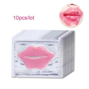 10Pcs Beauty Super Lip Plumper Pink Crystal Collagen Lip Mask Patches Moisture Essence Wrinkle Ance korean Cosmetics Skin Care 1