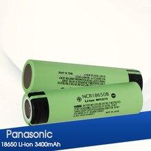 Panasonic 100% original 18650 bateria ncr18650b 3.7 v 3400 mah 18650 bateria recarregável de lítio para baterias de lanterna elétrica