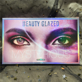 BEAUTY GLAZED Makeup 18 Colors Pallete Mysterious Matte Shimmer Glitter Eyeshadow Powder Waterproof Pigmented hudas Palette 1