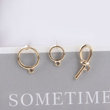 2 pcs 2019 new design fashion alloy personality wild geometric shape earrings for women ear material diy jewelry accessories