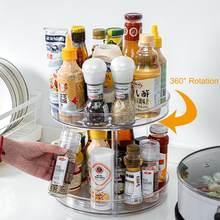 Cubo de almacenamiento giratorio para cocina, práctico estuche de plástico para edulcorantes de té, estante giratorio multifuncional de múltiples capas, 360