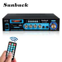 SUNBUCK 2000W Audio Power Amplifier DC12V 110/220V Home Theater Amplifiers with Remote Control Support FM USB SD Card bluetooth