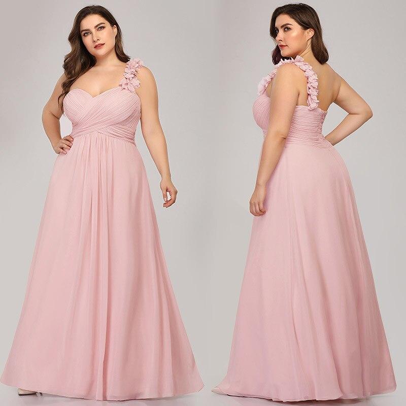 Chiffon Formal Party Gowns A-Line Women Banquet Dresses R130 One-Shoulder Sexy Robe De Soiree Floor Length Elegant Evening Dress