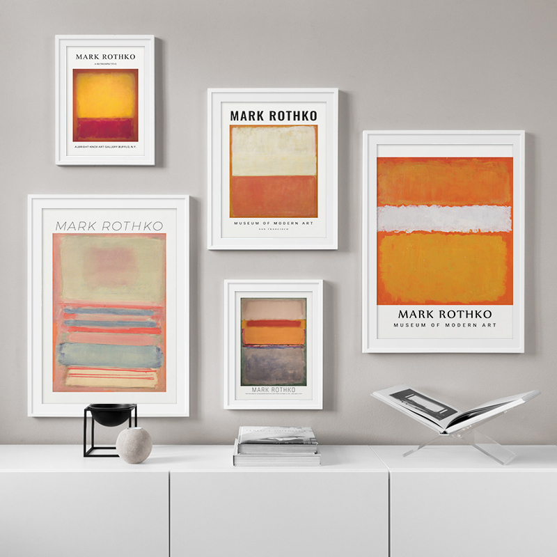 Famous MARK ROTHKO Abstract Colorful Wall Art Canvas Painting Picture Poster and Print Modern Home Decor For Living Room Bedroom