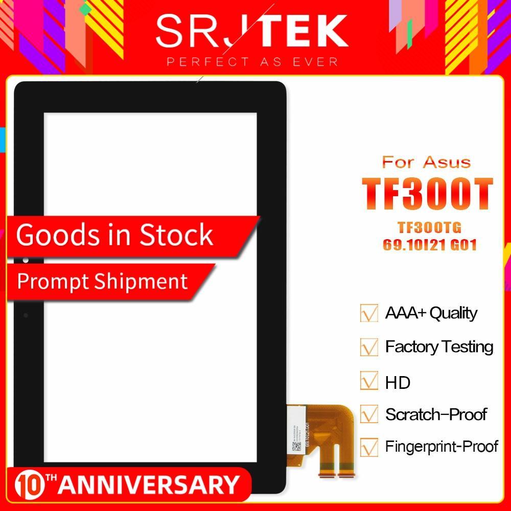 Srjtek For Asus Transformer Pad TF300T TF300 TF300TG G01 Version Digitizer Touch Screen Glass G01 Version 69.10I21. Tablet Parts