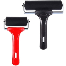 Retail 2 Pcs Rubber Brayer Roller for Printmaking/Crafts/Stamping Gluing, Brayer Ink Roller Anti-Skid Tape Construction Tool