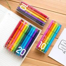 KACO-Juego de plumas de Gel retráctiles para niños y adultos, tinta negra/de colores, punta fina Extra de 0,5mm, artículos de papelería
