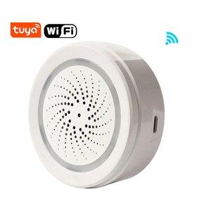 Image 1 - Tuya الحياة الذكية واي فاي USB صافرة إنذار كاشف حساس لاسلكي ضوء الصوت إنذار