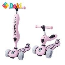 Pulley Flash-Skateboard Kids Scooters Baby Children's Popular Doki-Toy 4-Wheel 3-In-1