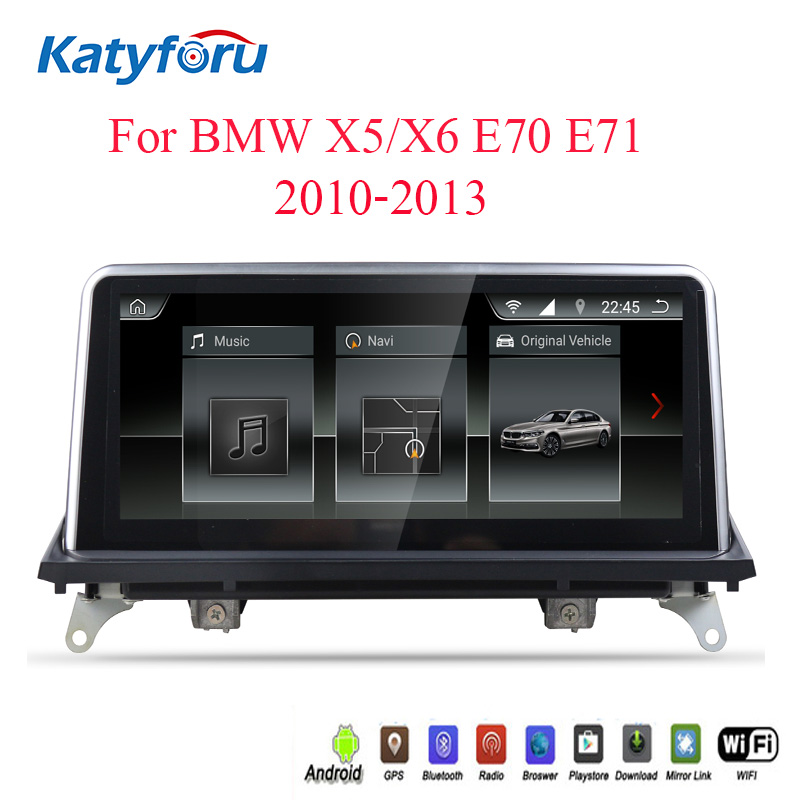Android 2din autoradio for <font><b>bmw</b></font> x5 x6 <font><b>E70</b></font> E71 with 2G RAM 8 core steering wheel control <font><b>10.25</b></font> 1280x480 HD screen reversing image image
