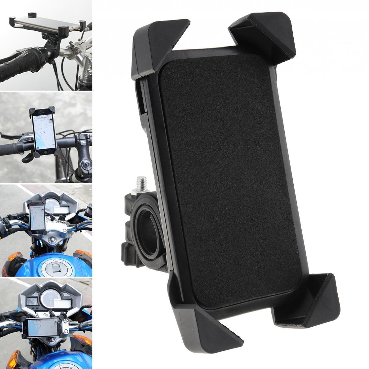 Noir universel moto téléphone Mobile Navigation support fixe vélo moto accessoires pour 3.5-7 pouces téléphones mobiles